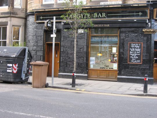 The Argyle Bar in Edinburgh