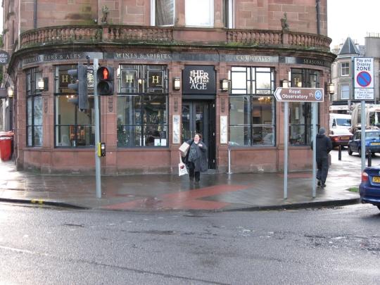 The Hermitage Bar in Edinburgh