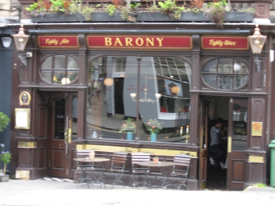 Barony Bar in Edinburgh.