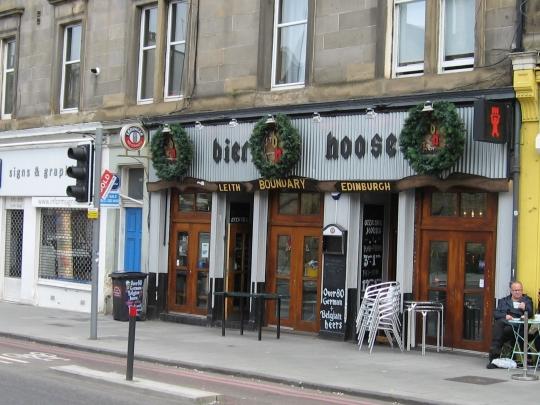 Bier Hoose in Edinburgh.