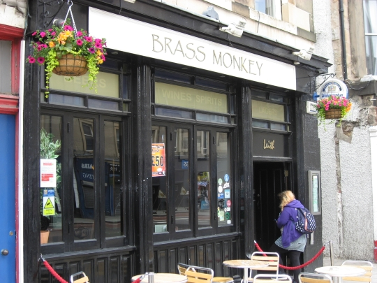 Brass Monkey (Leith) in Edinburgh.
