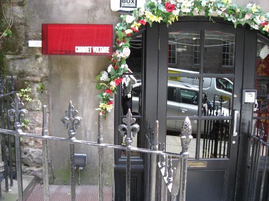 Cabaret Voltaire in Edinburgh.