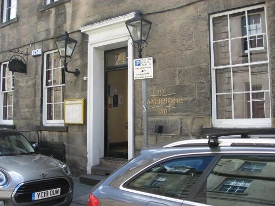 The Cambridge Bar in Edinburgh.
