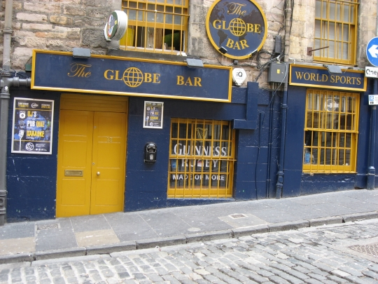 The Globe Bar in Edinburgh.