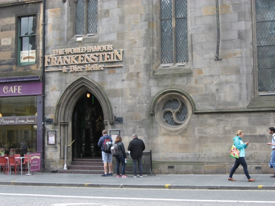 Frankenstein in Edinburgh.