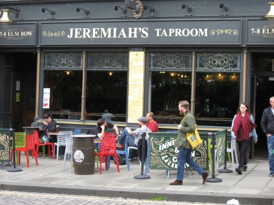 Jeremiah's Taproom in Edinburgh.