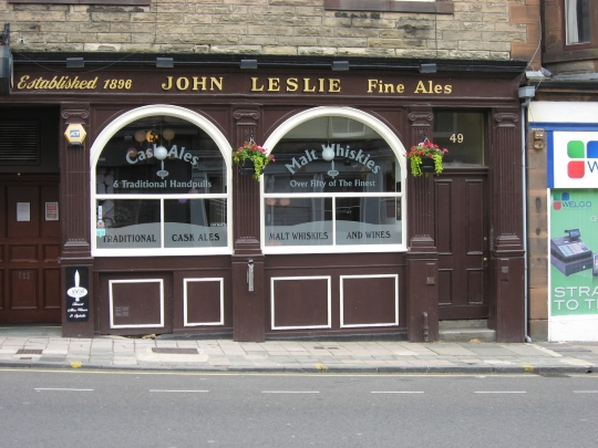Leslie's Bar in Edinburgh.