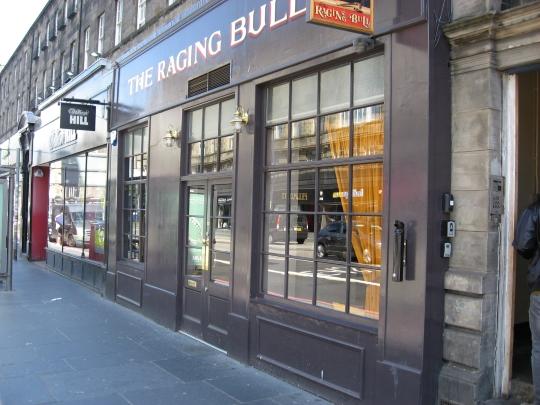 The Raging Bull in Edinburgh.