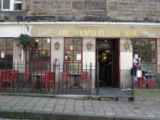 The Cumberland Bar in Edinburgh.
