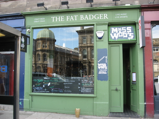 The Fat Badger in Edinburgh.