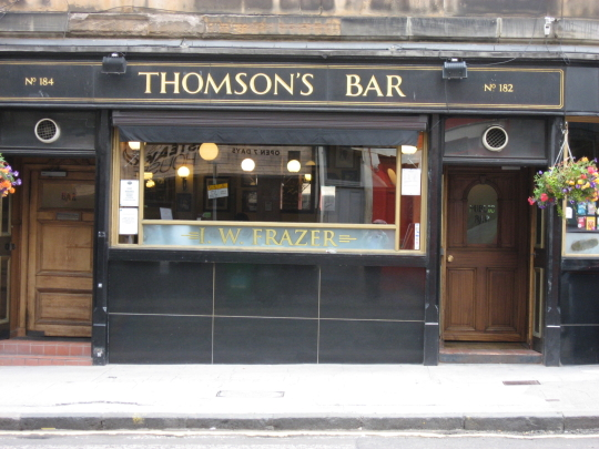 Thomson's Bar in Edinburgh.