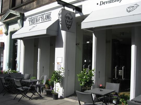 Froth & Flame in Edinburgh.