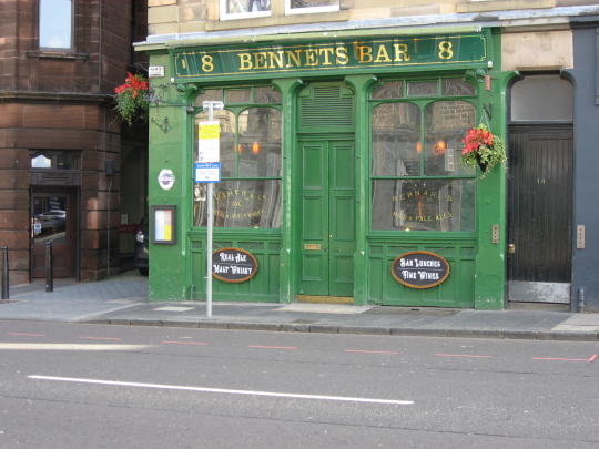 Bennets Bar in Edinburgh