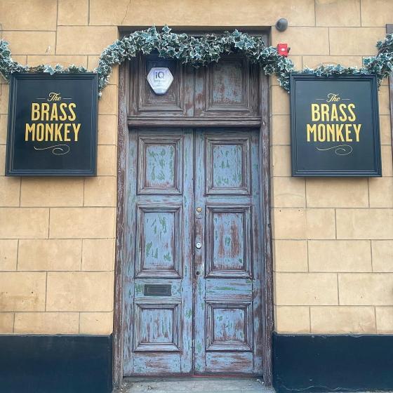 Photograph of Brass Monkey Shore in Edinburgh.