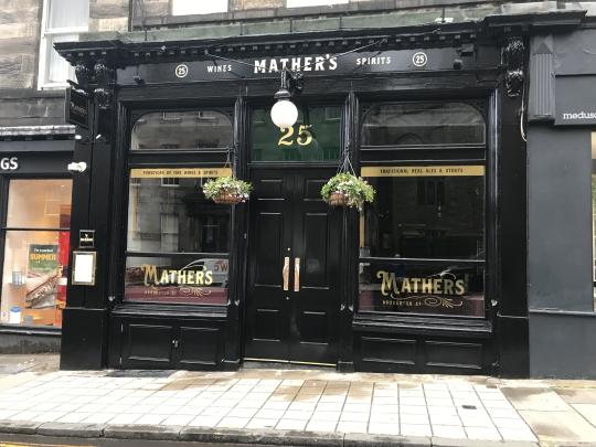 Photograph of Mather's in Edinburgh.